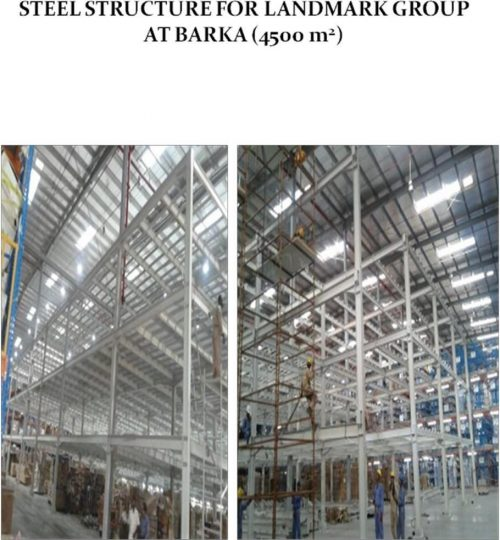 Steel Structure for Landmark Group at Barka | Excellent Steel Oman