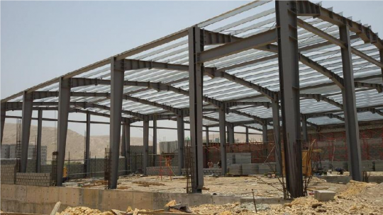 Construction of warehouse in Ghala | Excellent Steel Oman