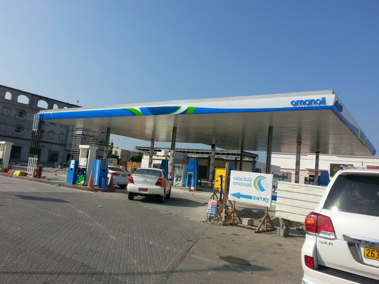 omanoil filling station | Excellent Steel Oman