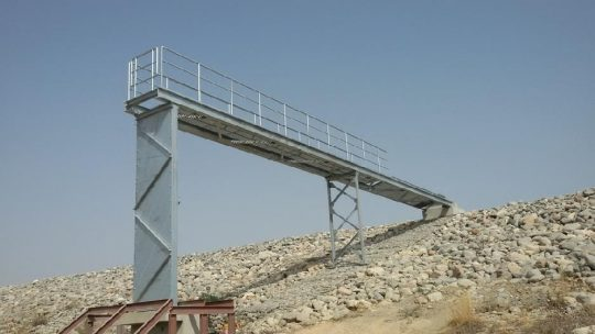 Walkway bridge for Sluice Control |  Excellent Steel Oman