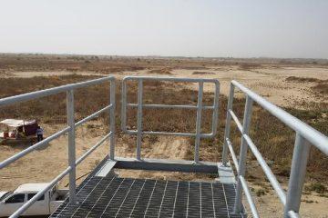 Walkway bridge for Sluice Control | Excellent Steel Oman