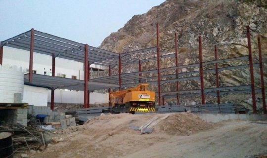 Wadi Kabir Flat Roof Structure | Excellent Steel Oman