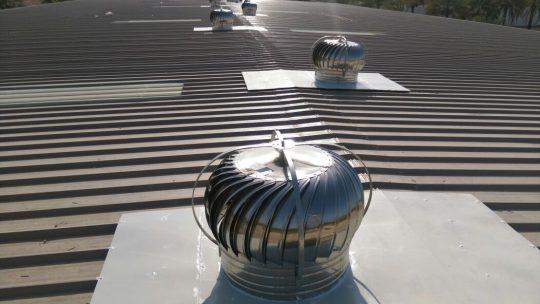 Roof Turbine ventilator Fixing | Excellent Steel Oman