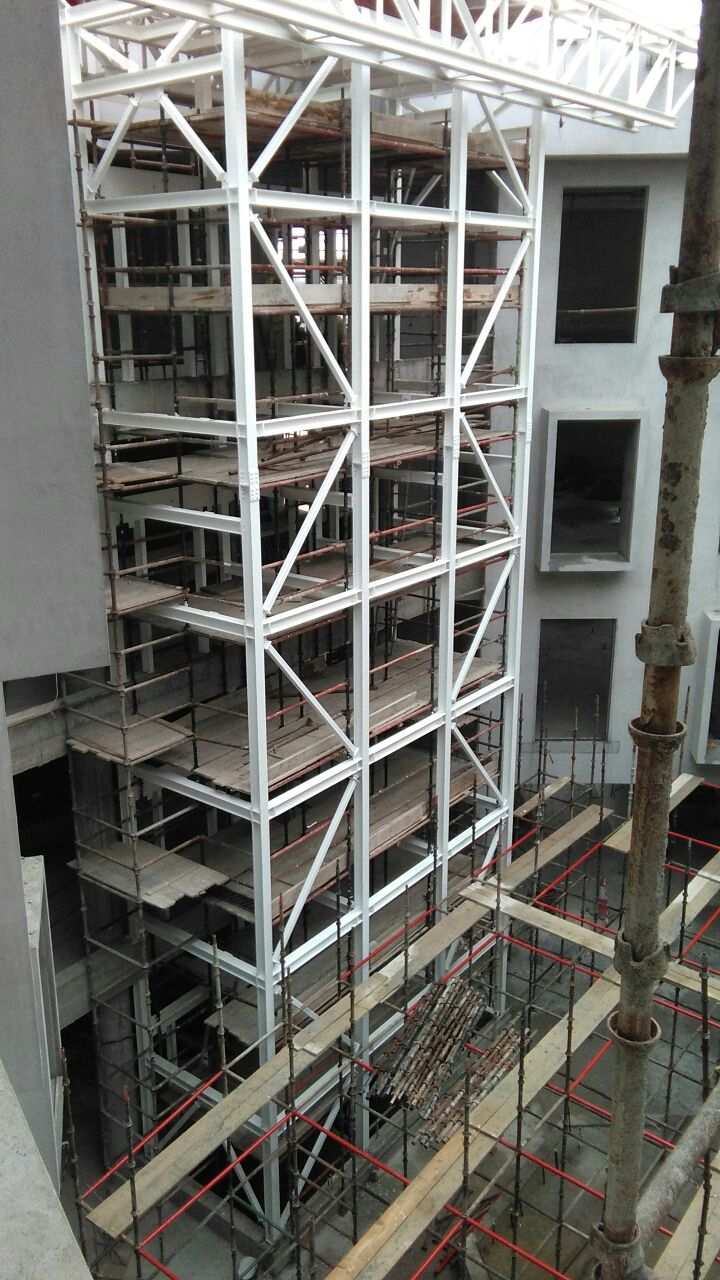 Salalah Free Zone Lift structure | Excellent Steel Oman