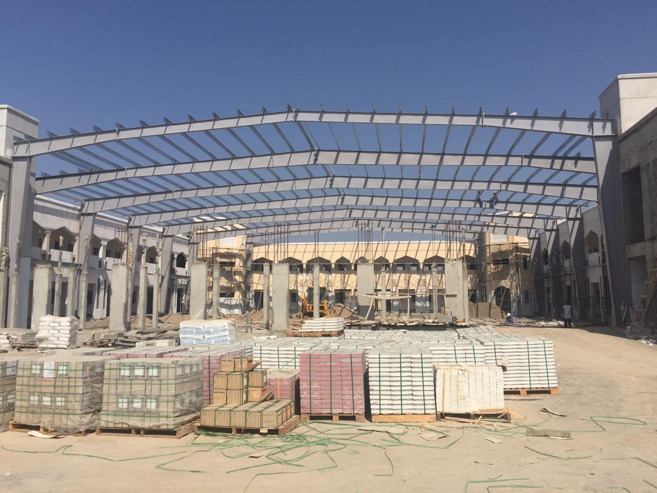 Barka school courtyard for MOE | Excellent Steel Oman