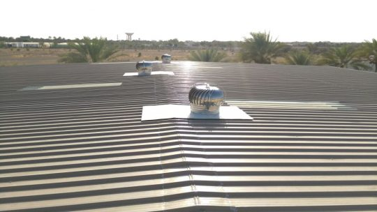 Roof Turbine ventilator Fixing | Excellent Steel Oman