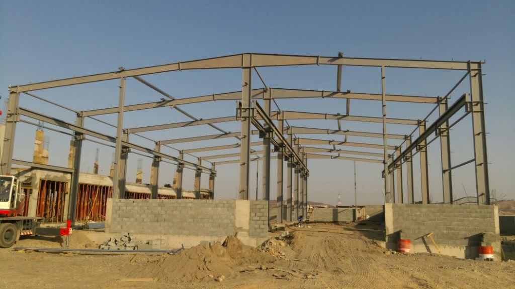Sohar Borets steel structure shed | Excellent Steel Oman