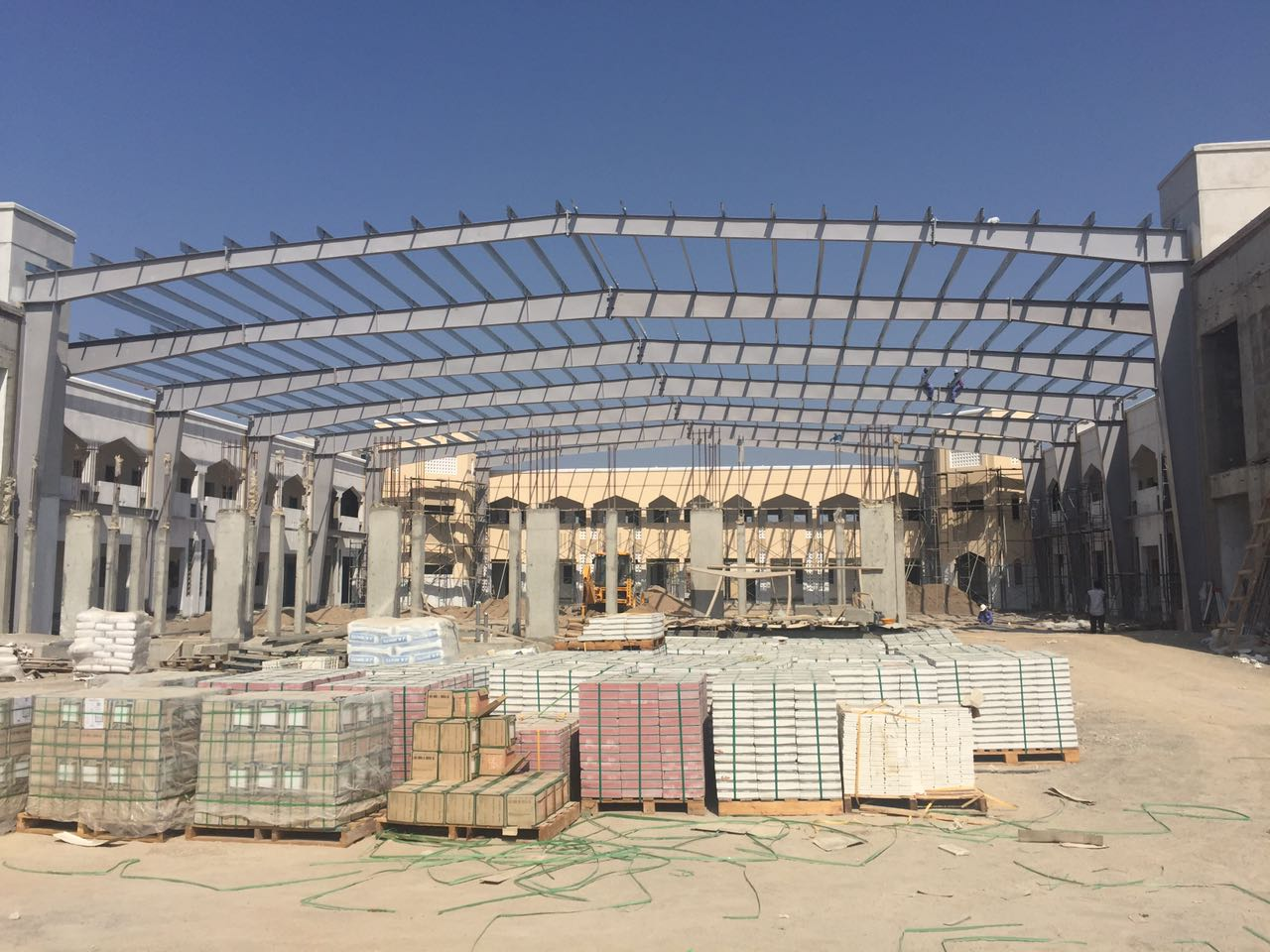Barka school courtyard for MOE | Excellent Steel Oman